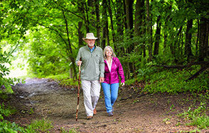 Older couple on a hike