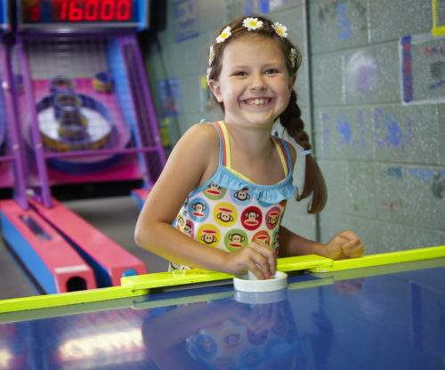 Girl In Game Room