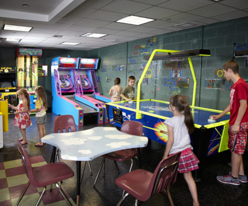 Kids In Game Room