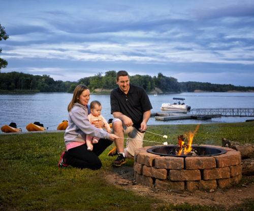 Young Family Bonfire